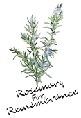 Sue Ryder's Rosemary For Remembrance Logo